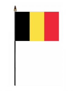 Belgium Country Hand Flag - Small.
